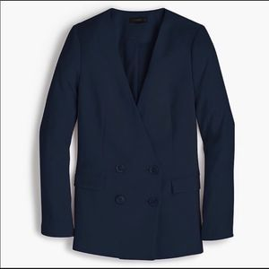 J.Crew French Girl Navy Double Breasted Blazer -10